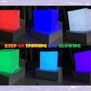 Glowing Spinning Cube