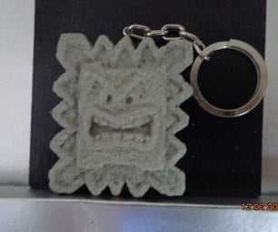 What to Do With Losing Cornstarch? Maybe a Lovely Keychain Fake Rock!