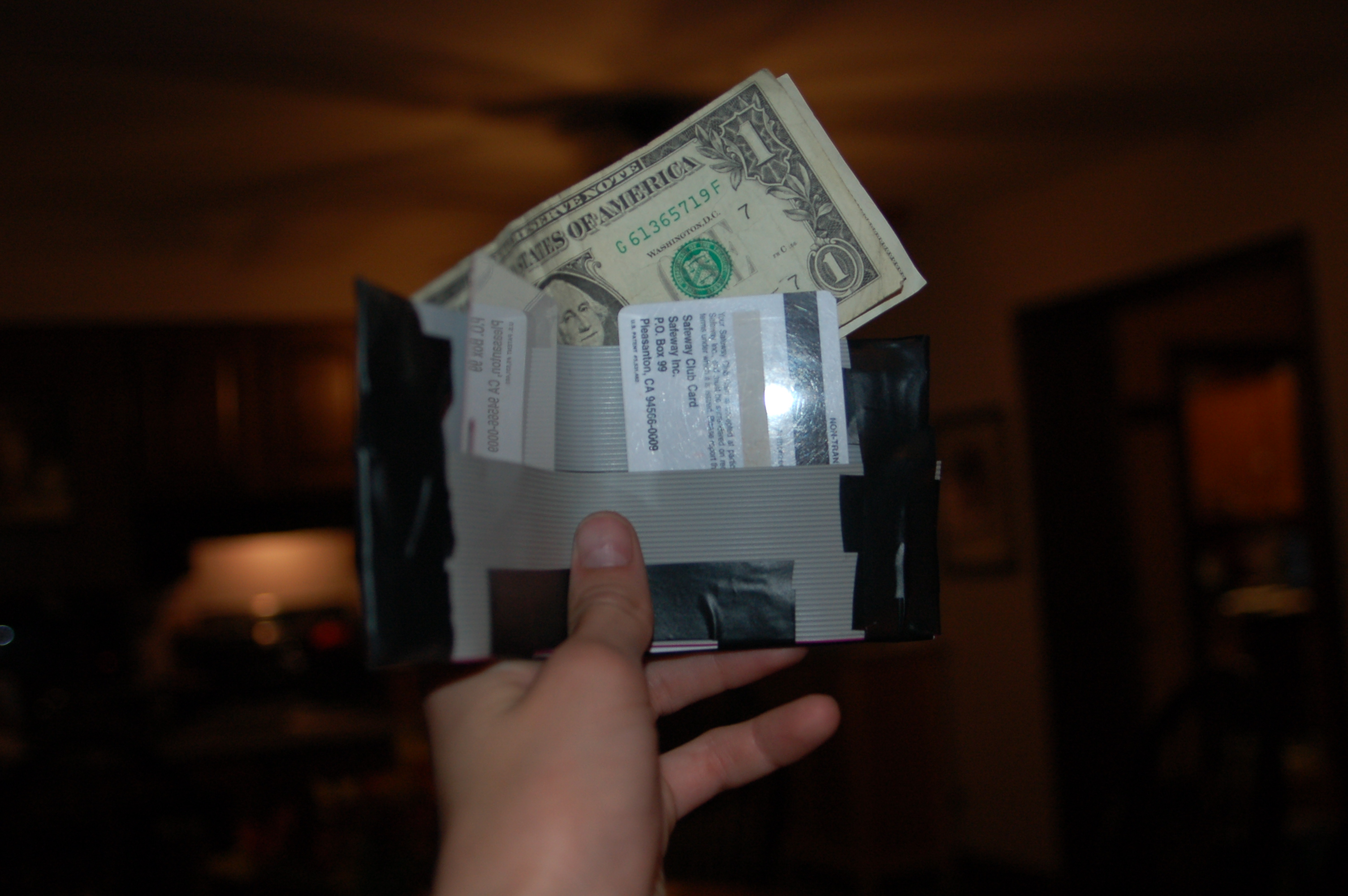 Picture of Durable Wallet Made From Old Floppy Disk Cables.