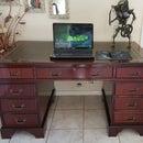 Leather Top Desk Restored