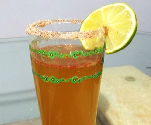 Hot Cocktail - Michelada - With Hot Sauce and Chili Powder