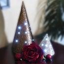 Light Up Christmas Tree Cones DIY