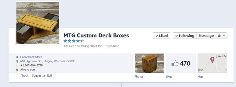 DIY M:tG Wooden Deckbox