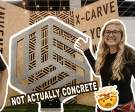We Made a GIANT Faux Concrete Logo Out of Foam!