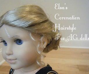 Elsa's Coronation Hairstyle for American Girl Dolls