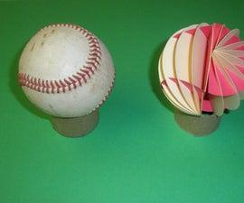 Paper Baseball With Stitch Path