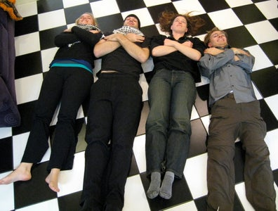 Lay Around on a Black and White Floor and Discuss How Awesome You Are for Doing This