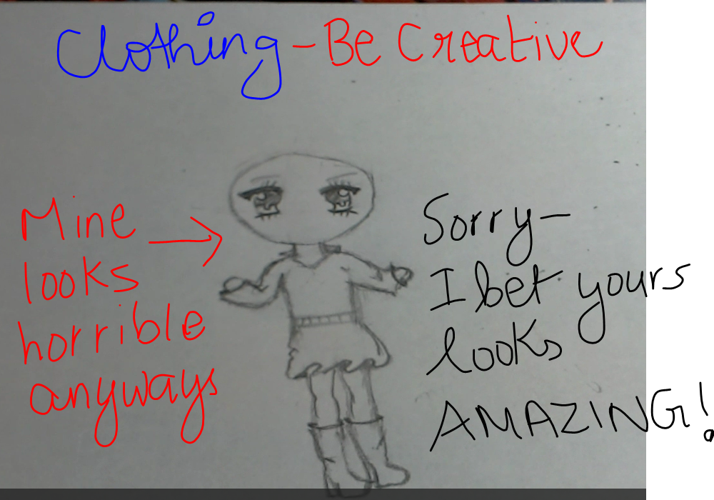 Picture of Drawing the Clothes (be Creative..your Choice)