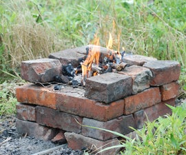 Simple Forge From Red House Bricks