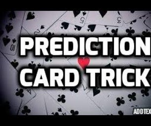 Mind Blowing Prediction Card Trick Revealed