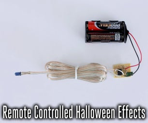 Controlling Halloween Effects With DIY Infrared Remote Controls