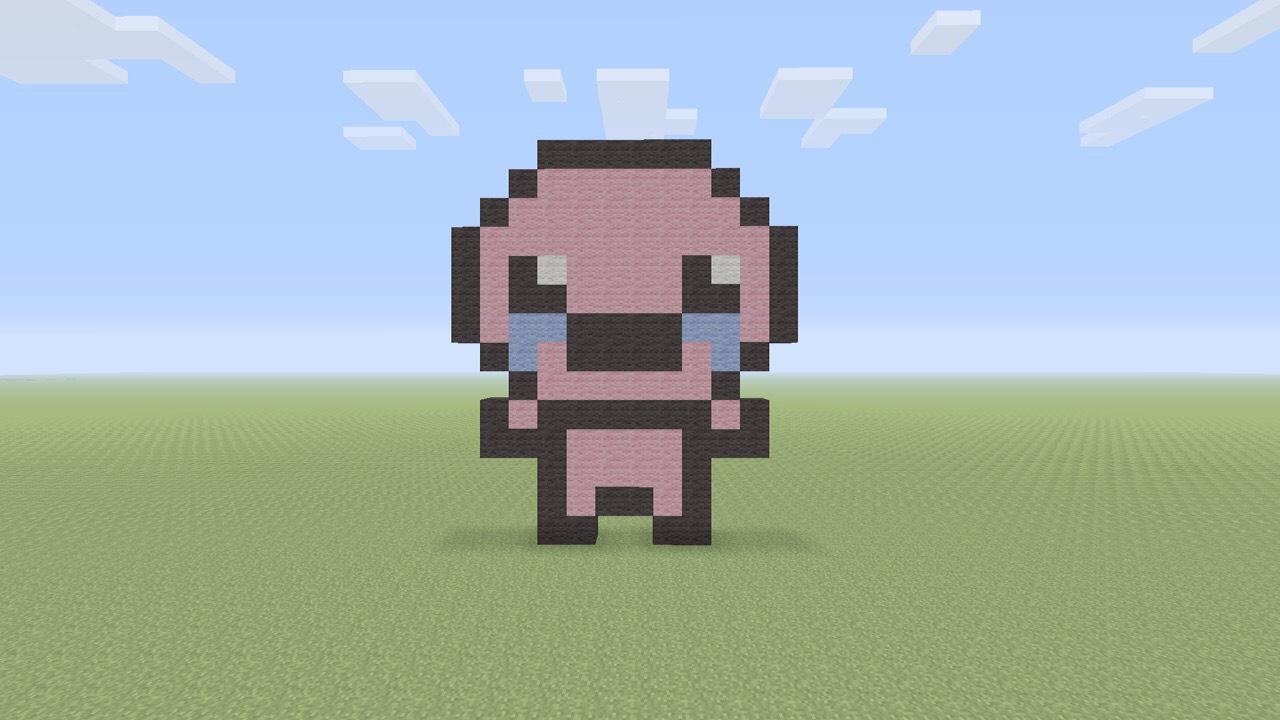 Minecraft Binding Of Isaac Pixel Art 15 Steps Instructables