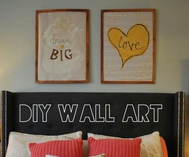 Turn Gift Wrapping Paper into Wall Art