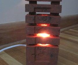 Brick lamp and stone light