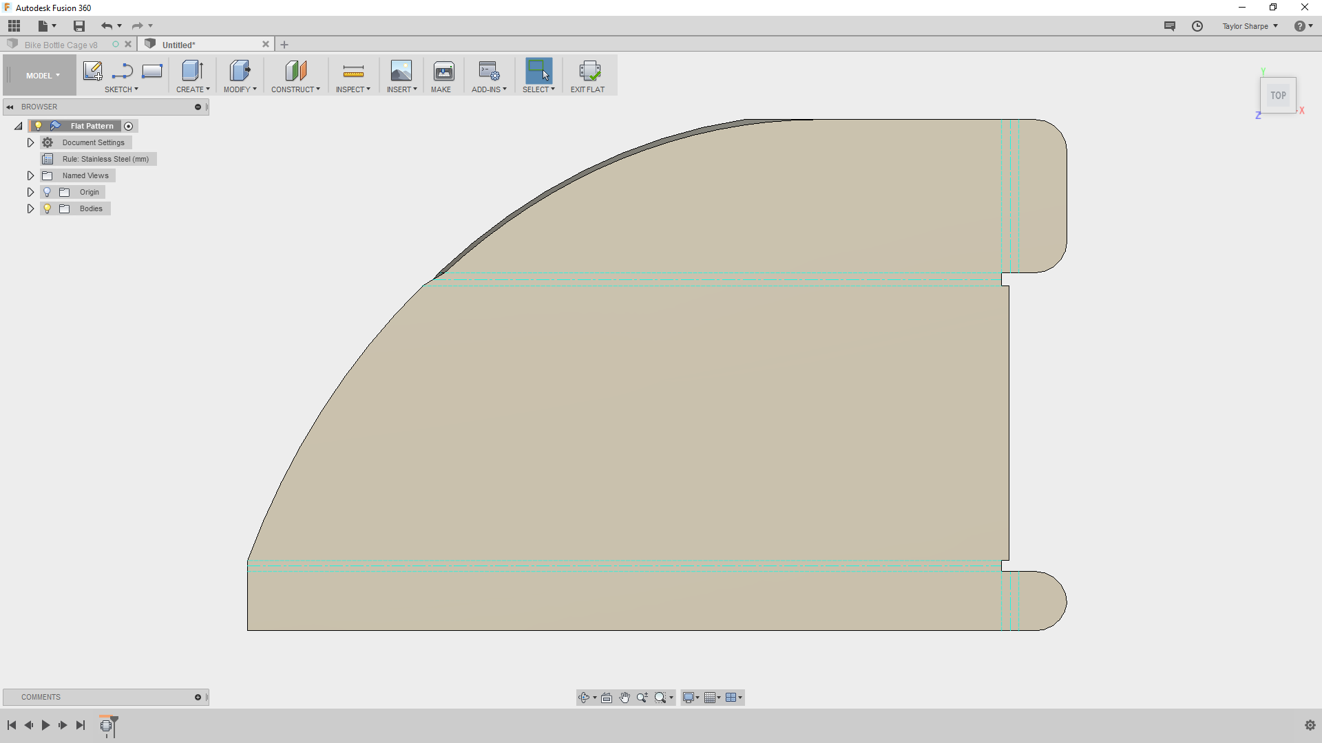 Picture of Add an Arc to the Flange Design