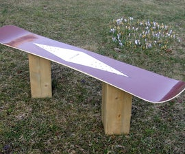 How to make a Snowboard Bench from an old board