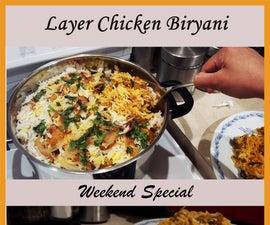 Layer Chicken Biryani Recipe | Slow-cooked Rice & Chicken Recipe