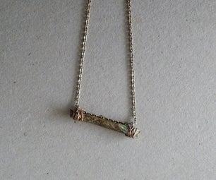 Minimalistic Wood and Metal Chain