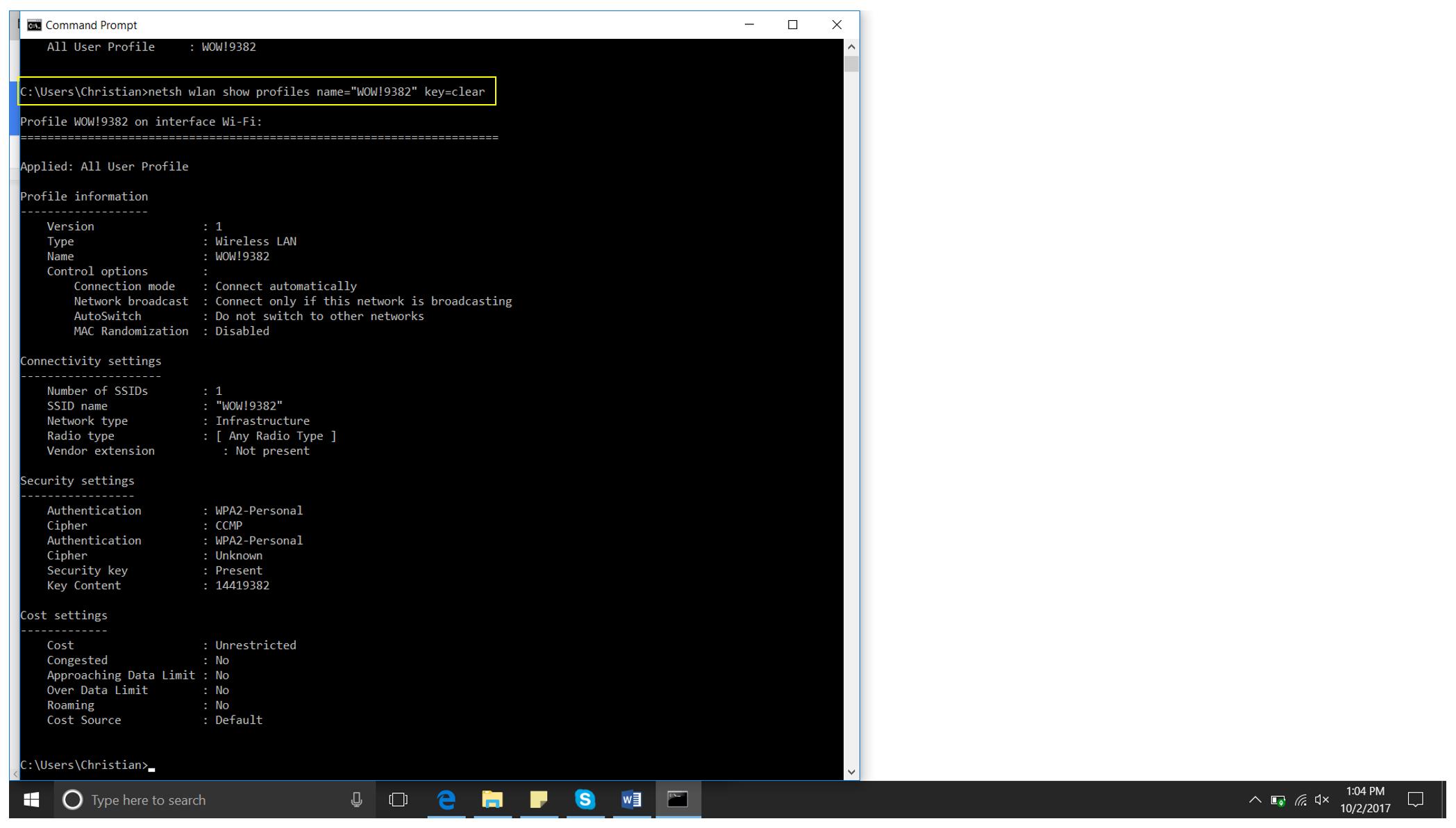 Picture of Get Network Password (Windows)