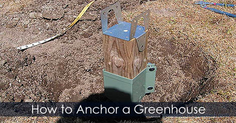 Picture of Step 1: How to Anchor a Greenhouse to Ground