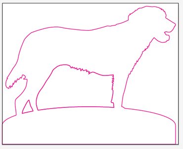 Draw Outline of Shape