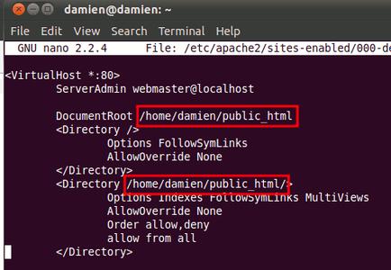Modify the Default File.