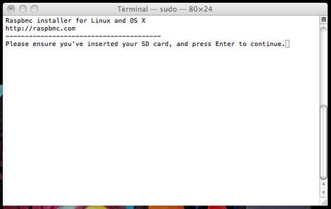 Installing the Software on the SD Card