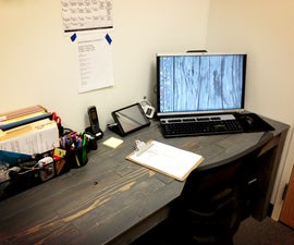 Made it at TechShop (PGH) - Recycled Pallet Wood Desk