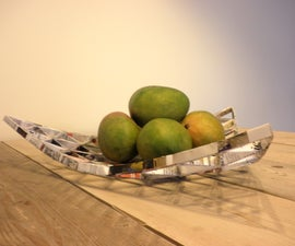 Triangular Paper Fruit Bowl