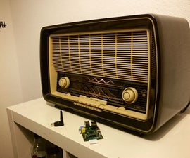 Converting an Old Radio Into a Spotify Streaming Box