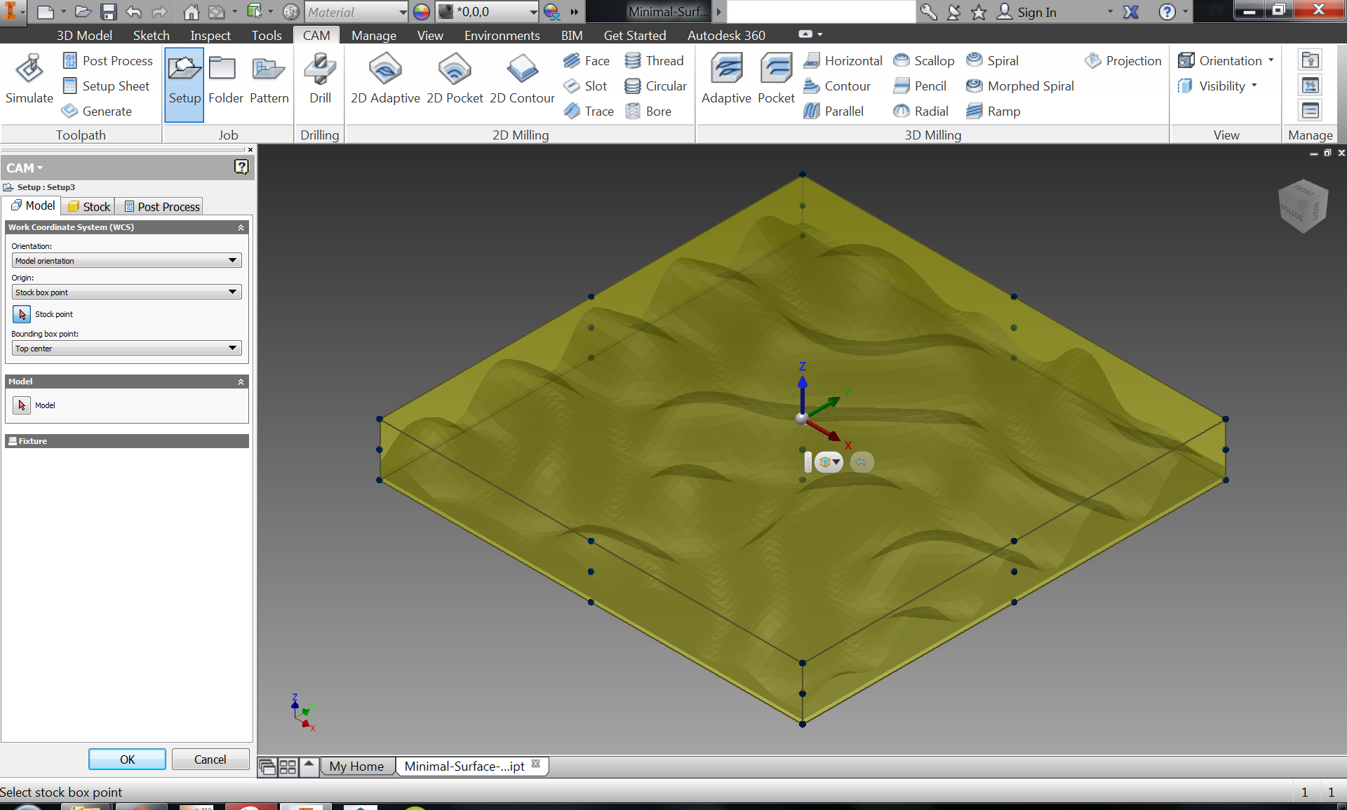 Picture of Generate Tool Paths in Inventor