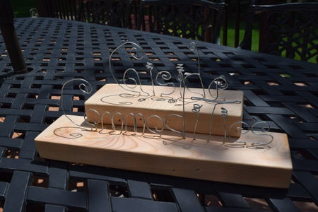 Wire Letters Sculpture