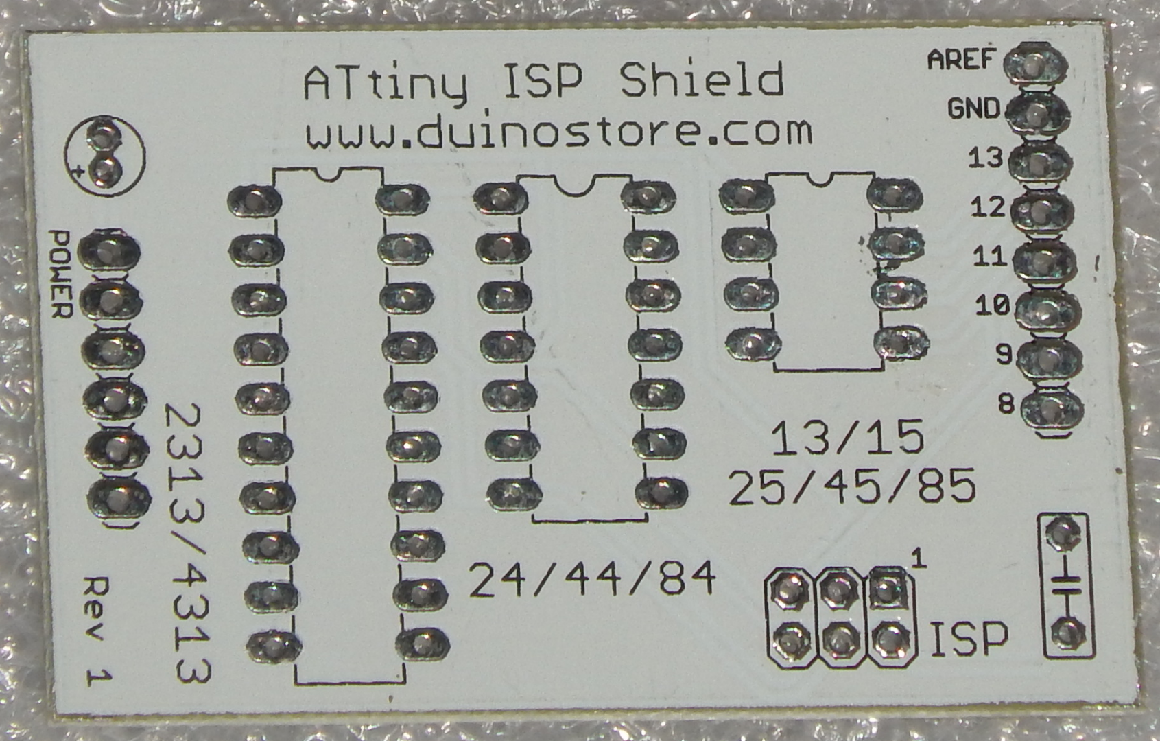 Picture of Solder 20Pin IC Header for ATTiny ISP Shield