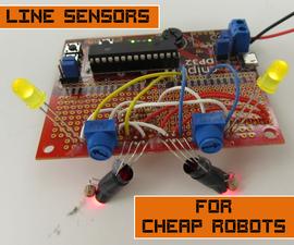 Line Sensors for Cheap Robots