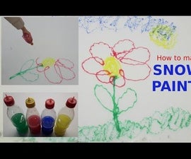 How to make PAINTS FOR SNOW - SNOW PAINTS -  EASY!