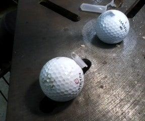 Homemade Geocaching Golf Balls