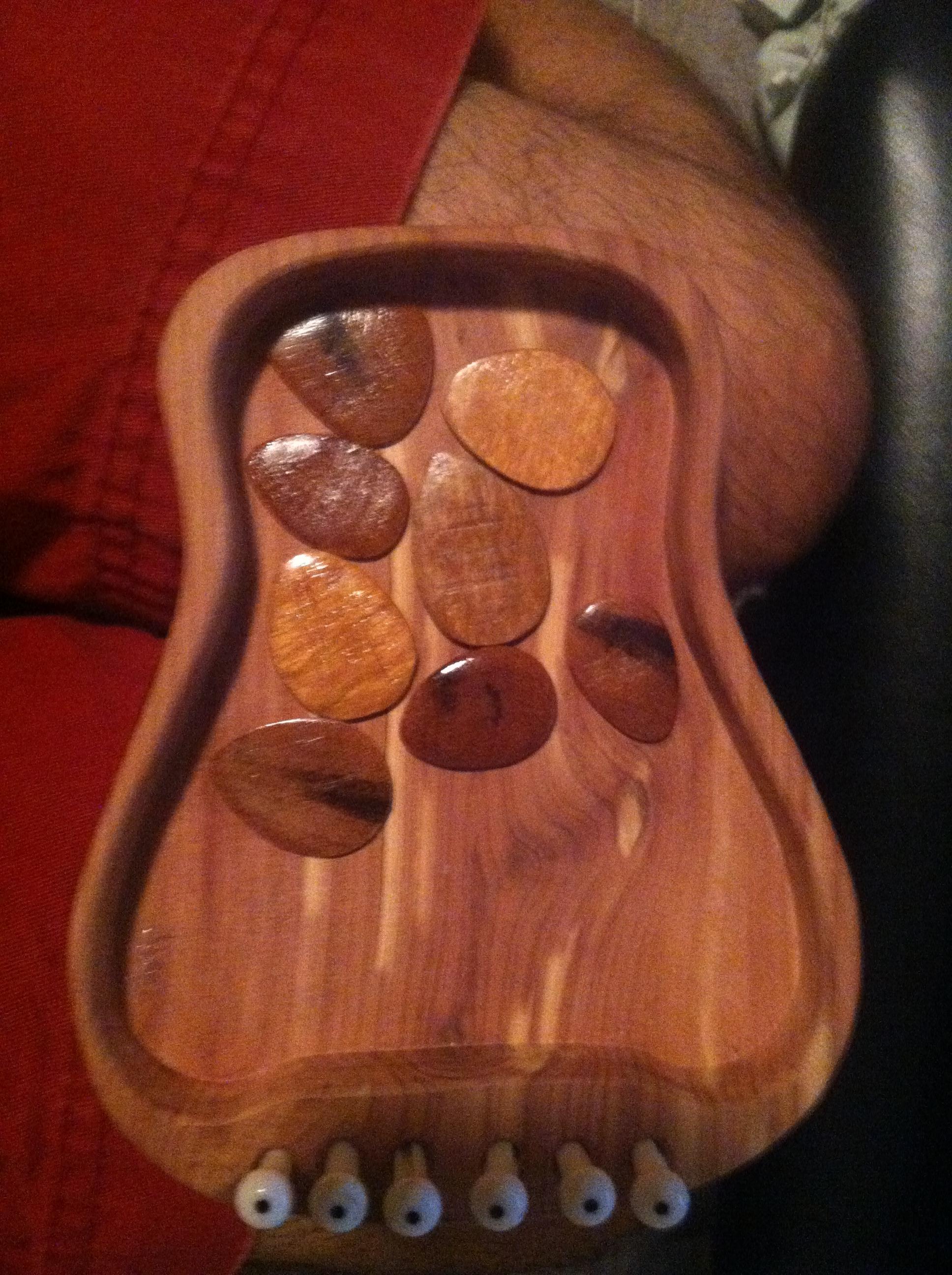 Picture of Hardwood Guitar Picks!