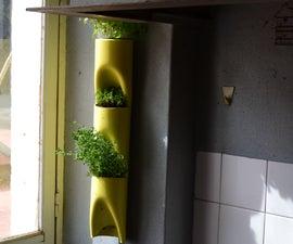 Portable pvc vertical garden