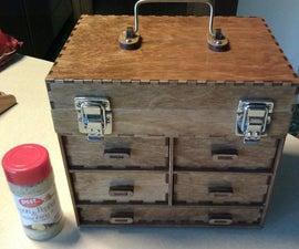 Laser Cut Small Toolbox/Jewelry Box