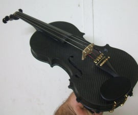 A carbon fibre violin i made from scratch