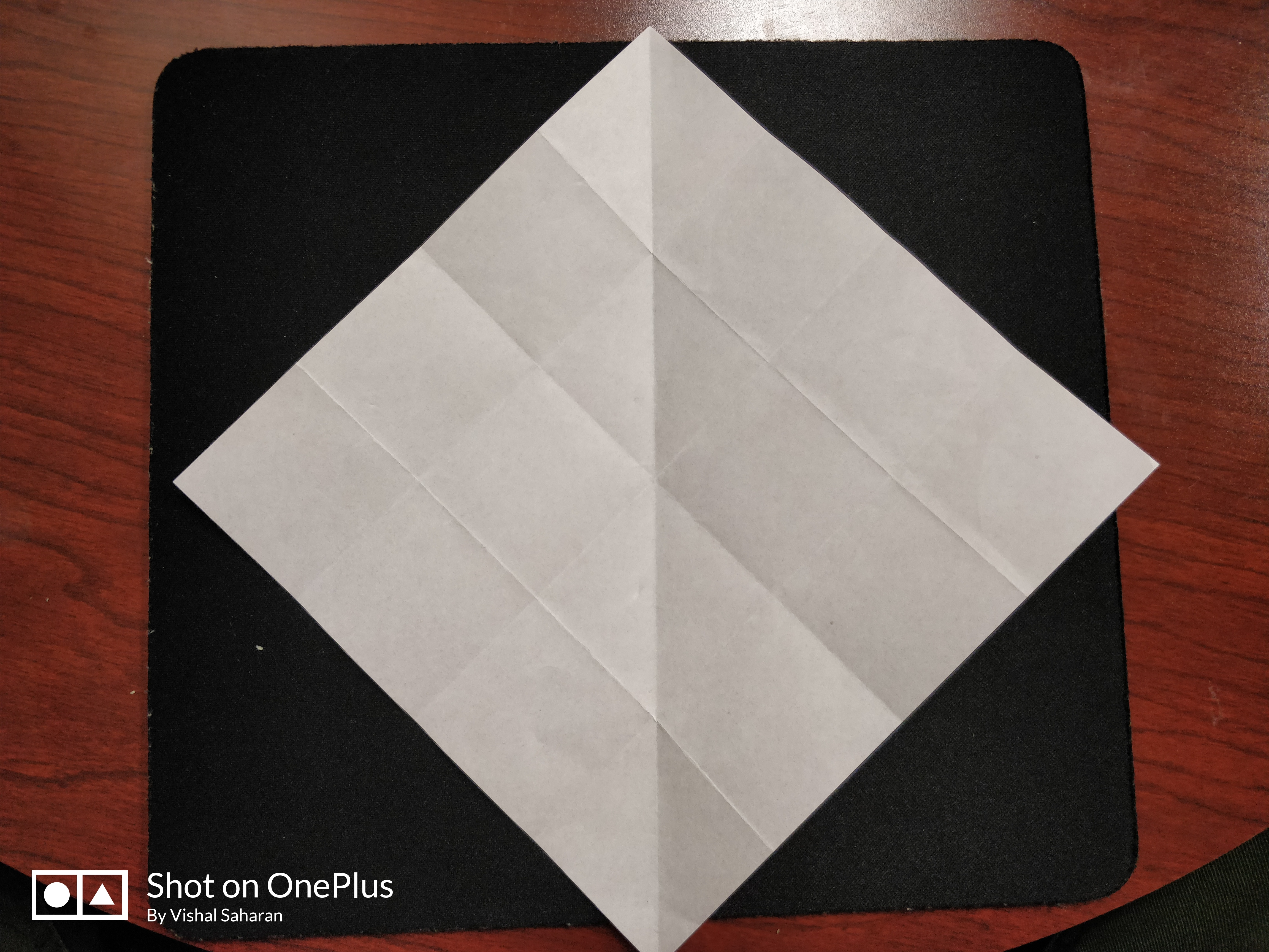 Picture of Turn the Paper 90 Degrees.