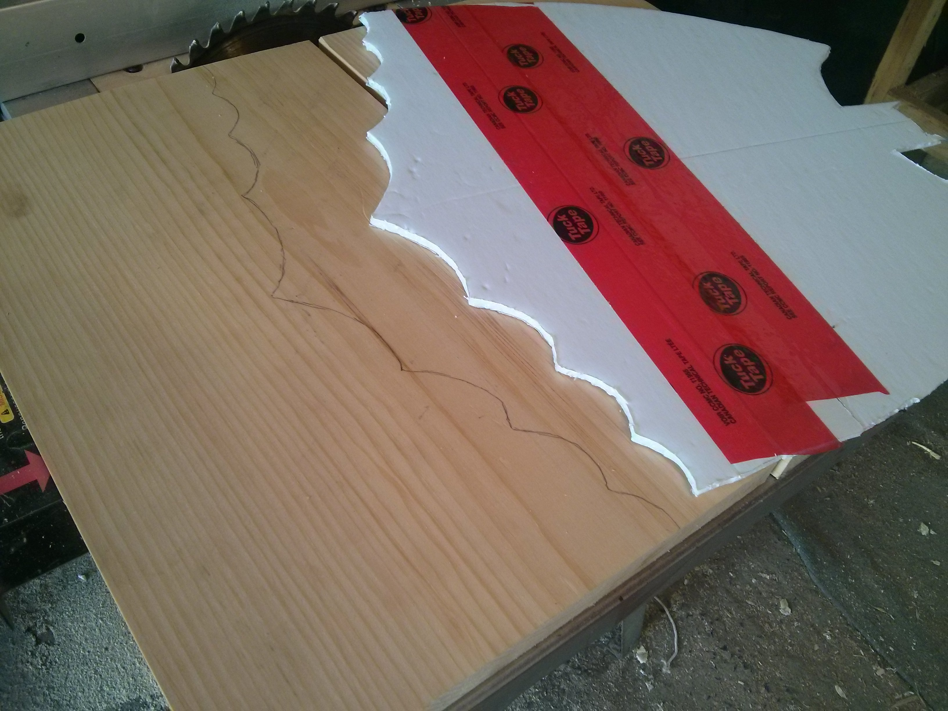 Picture of Cutting and Shaping the Logo