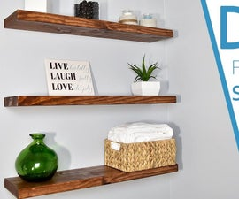 Make Your Own FLOATING SHELVES With This Simple Technique
