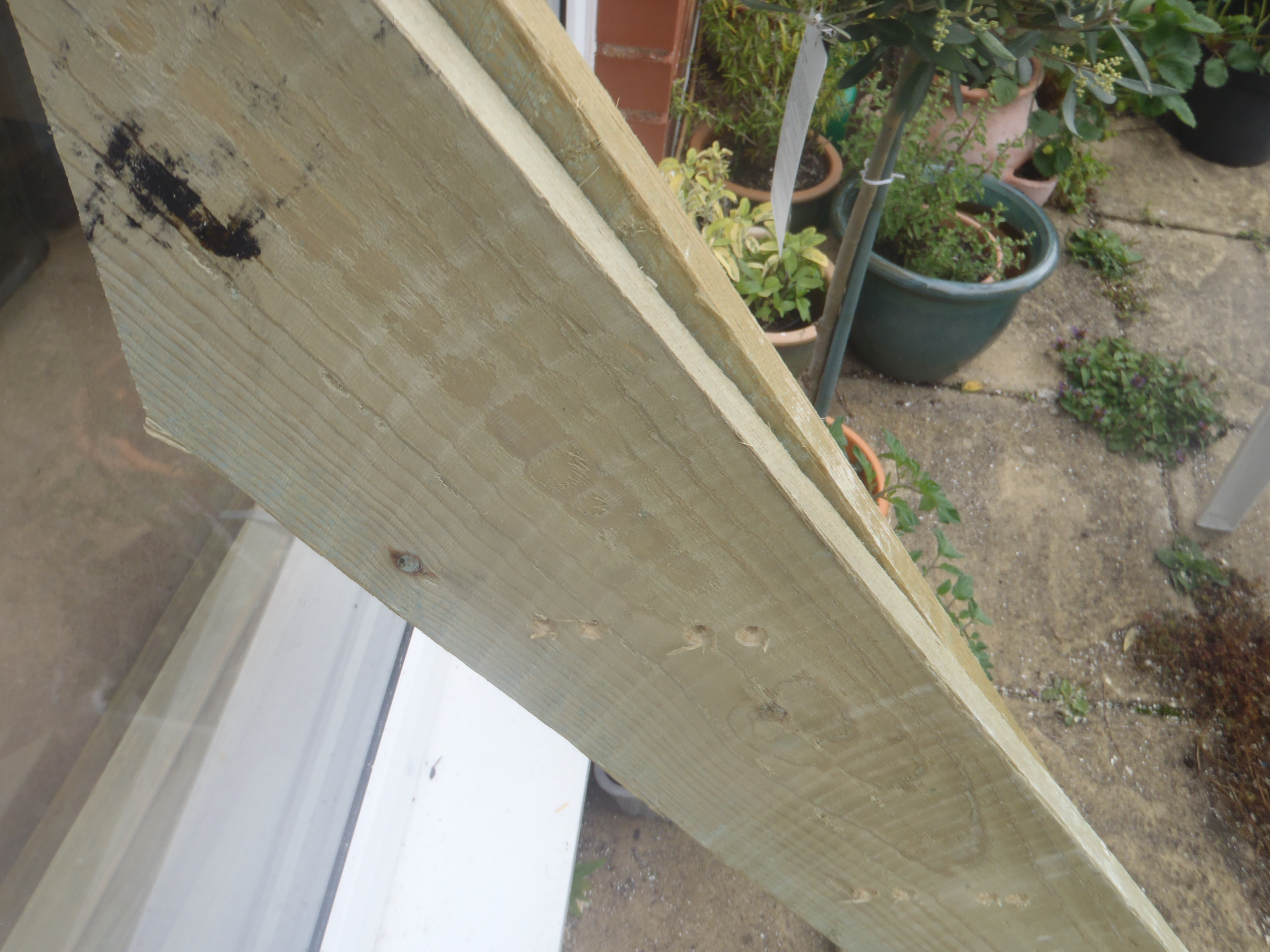Picture of Mark Lines for Planter Shelves