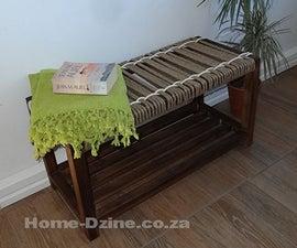 Make woven jute rope bench