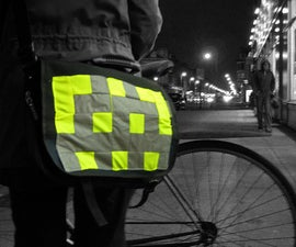 Big Bag Badges: sew-on hi-vis badges for cycling/running
