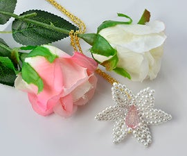 Beebeecraft Tutorial on How to Make a White Pearl Flower Pendant Necklace
