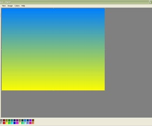 Gradients in Microsoft Paint