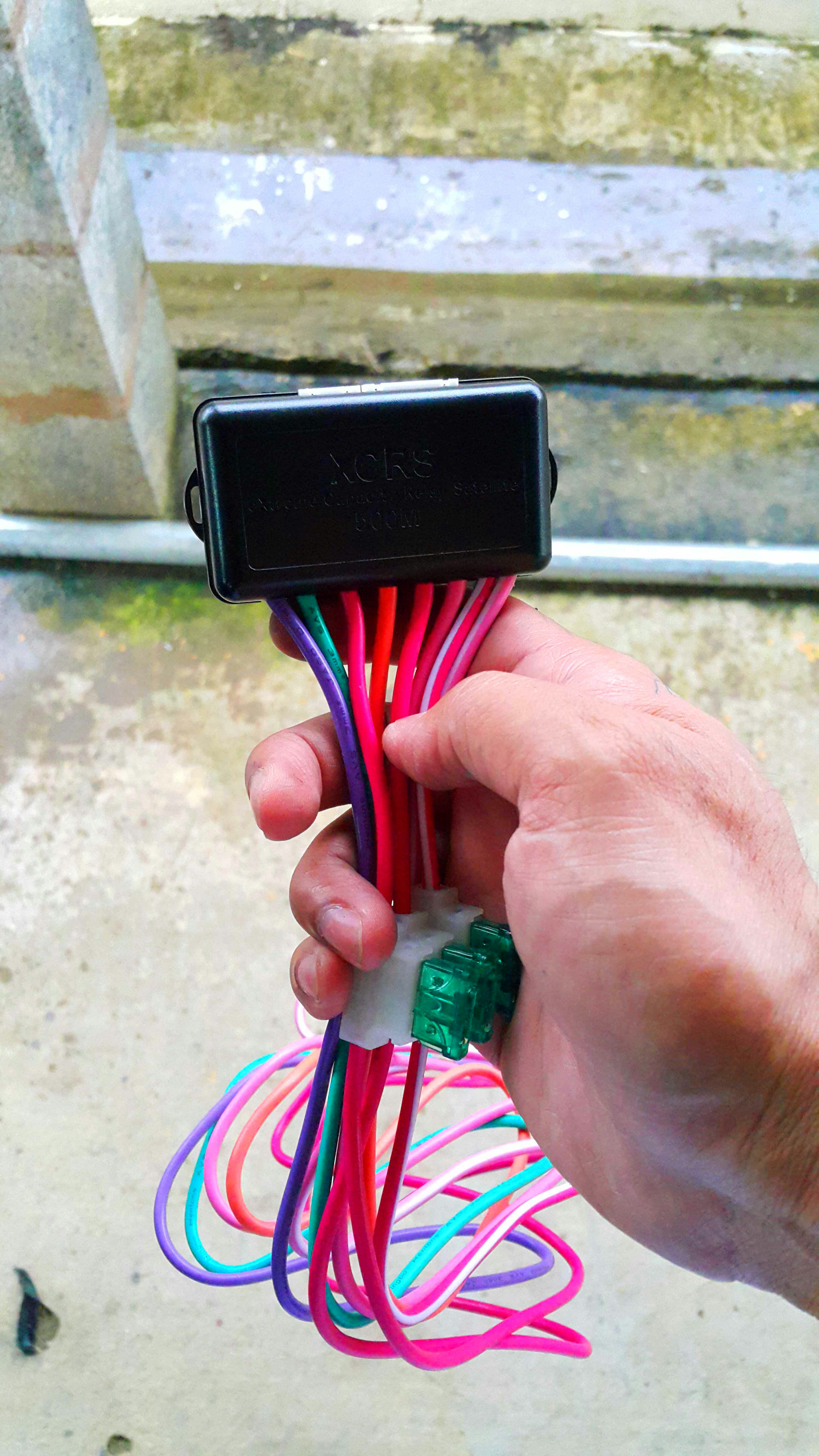 Picture of Installing the Remote Start Relay Module.