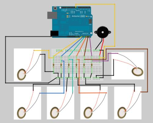 Picture of Arduino Piano With Piezoelectric Sensors